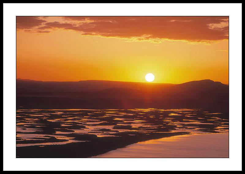 Sunset over Hart Lake - Hart Mountain National Antelope Refuge, Oregon