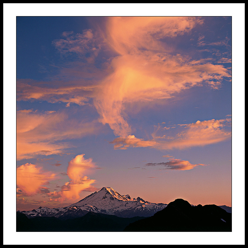 Mount Baker Sunset from Yellow Aster Butte - North Cascade Mountains, Washington