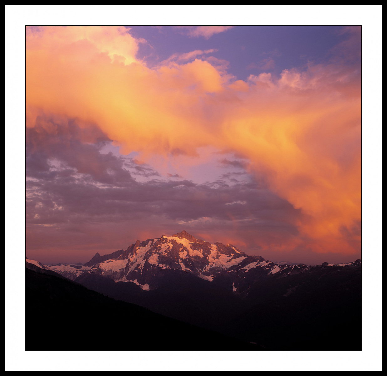 Mount Shuksan Sunset from Yellow Aster Butte - North Cascade Mountains, Washington