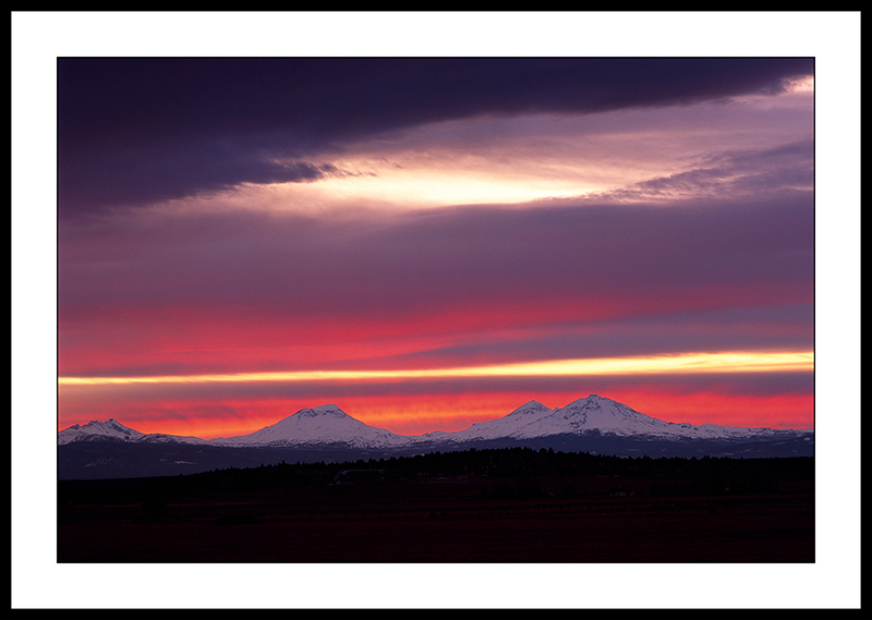 Three Sisters Mountain Sunset - Sisters, Oregon