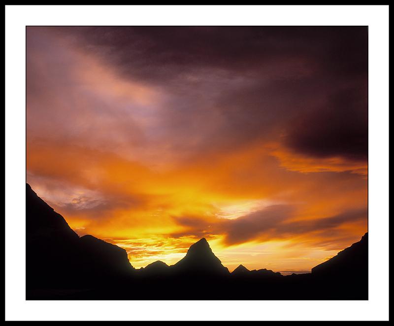 Sunset over Wahcheechee Peak - Waterton Glacier International Peace Park - Montana