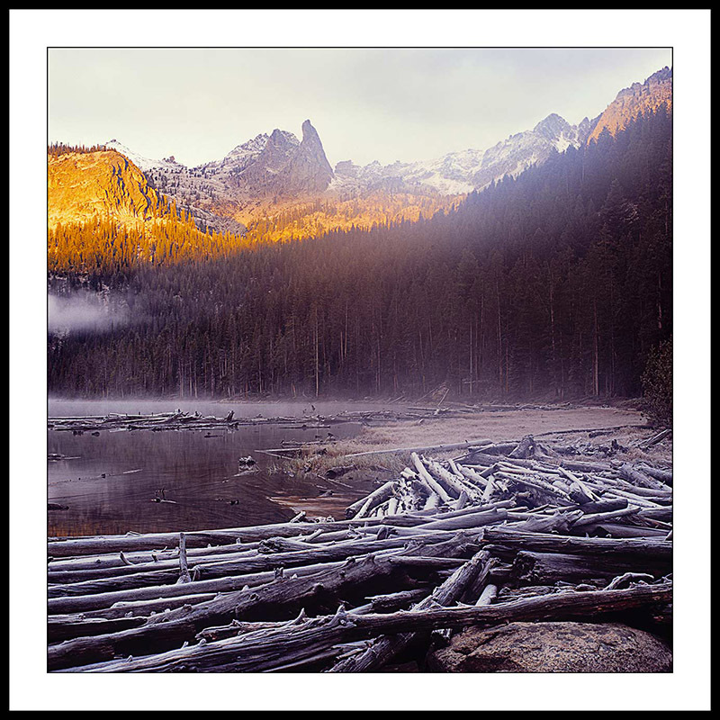 Finger of Fate and Hell Roaring Lake at Sunrise -Sawtooth Mountains, Idaho