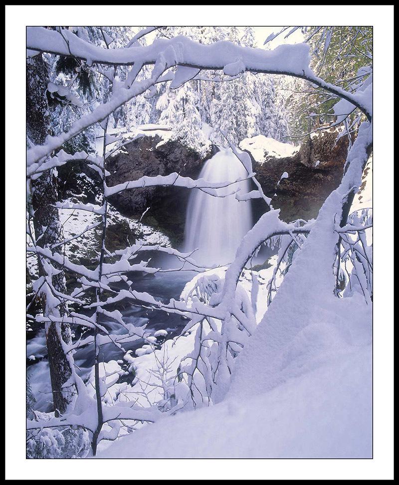 Sahalie Falls and McKenzie River -  Cascade Mountains, Oregonalls, McKenzie River, Oregon Cascades, Oregon