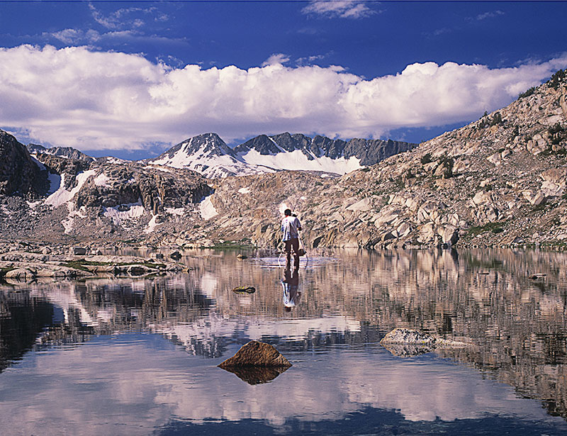 adam bacher photographing in sapphire lake evolution basin sierra nevada california