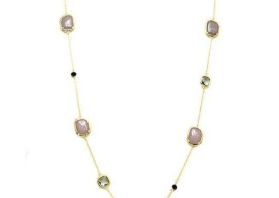 """New Product - Gold Chain with Semi Precious Stone Stations Approx: 36"""" - Quantum EMF Protectors"""