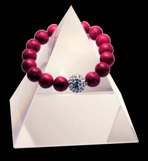 133 New Product - EMF Harmonizing Bracelet Red Turquoise - Quantum EMF Protectors