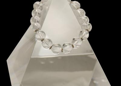 137 New Product - EMF Harmonizing Bracelet White Globe Beads - Quantum EMF Protectors