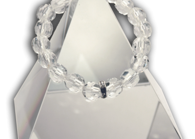 139 New Product - EMF Harmonizing Faceted Crystal Beads Clear - Quantum EMF Protectors
