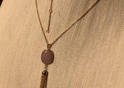 "81 Amethyst Semi-Precious Pendant with Tassel Necklace Length: 30""  Stone: Semi-Precious - Quantum EMF Protectors"