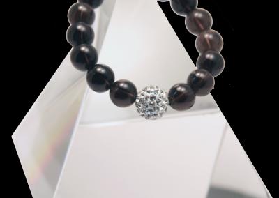 146 New Product - EMF Harmonizing Jewelry Smokey Quartz Globe Brown - Quantum EMF Protectors