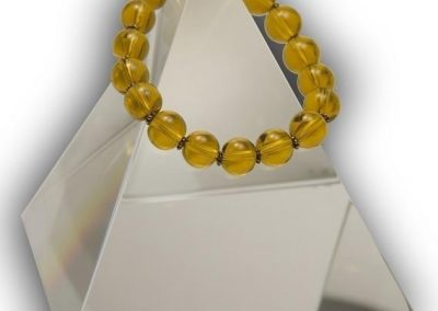 74 Gold GLOBE Swarovski Crystal Bracelet Quantum EMF BioShield Quantum Protector - Quantum EMF Protectors