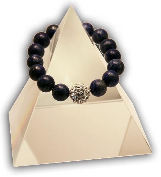 EMF Harmonizing Bracelet Lapis Lazuli - Black - Quantum EMF Protectors