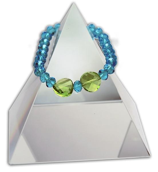 140 New Product - EMF Harmonizing Faceted Crystal Beads Cyan - Quantum EMF Protectors
