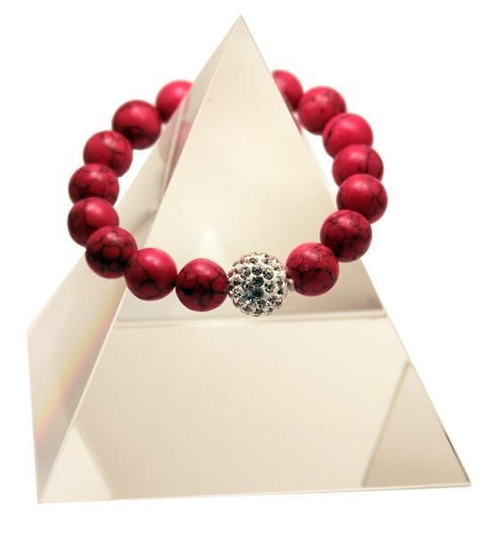 145 New Product - EMF Harmonizing Jewelry Red Turquois Bracelet - Quantum EMF Protectors