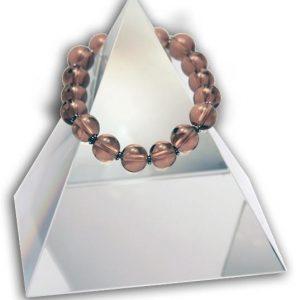 149 New Product - EMF Harmonizing Jewelry Smokey Quartz Globe Tan - Quantum EMF Protectors