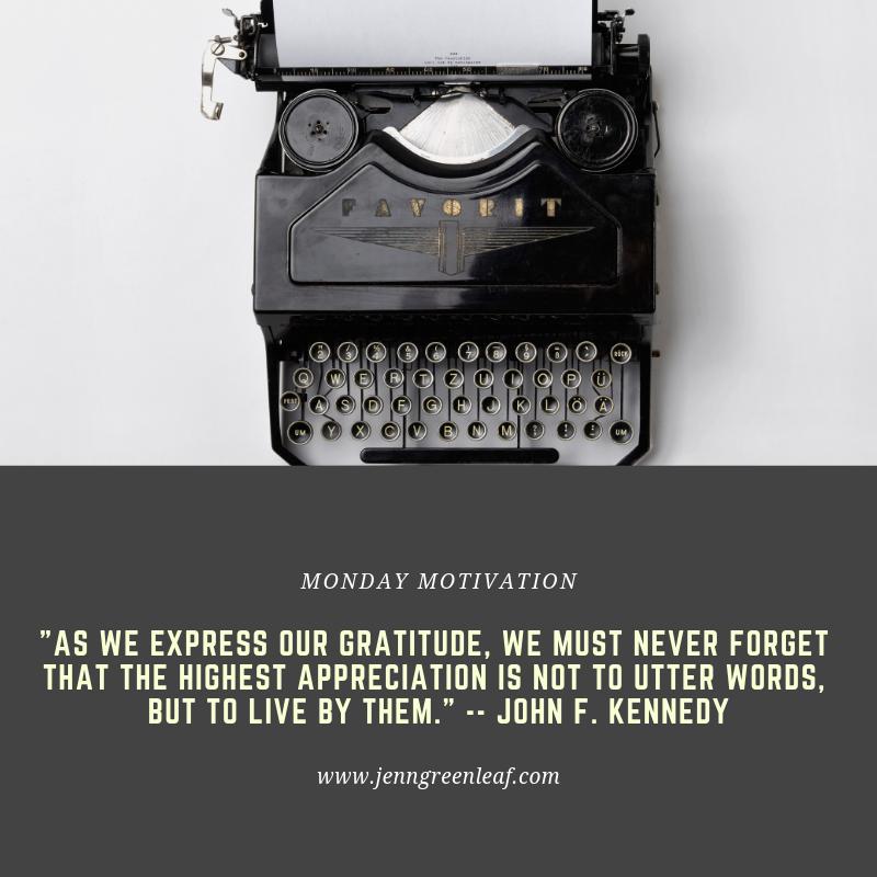 Monday Motivation: Appreciation