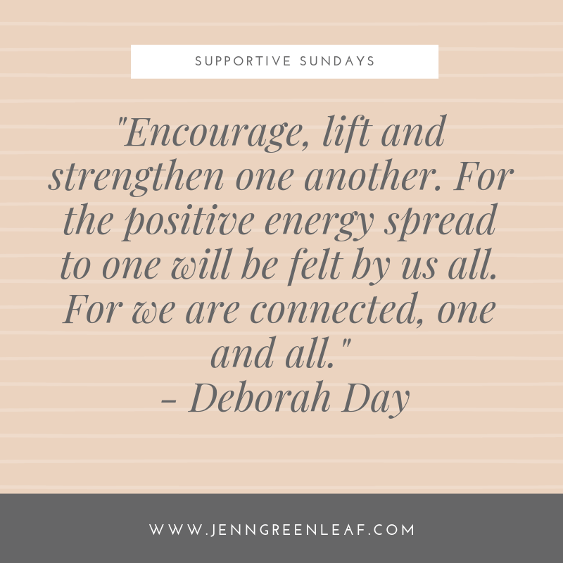 Supportive Sundays: On Reaching Out