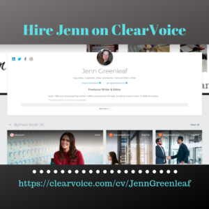 Hire Jenn on ClearVoice