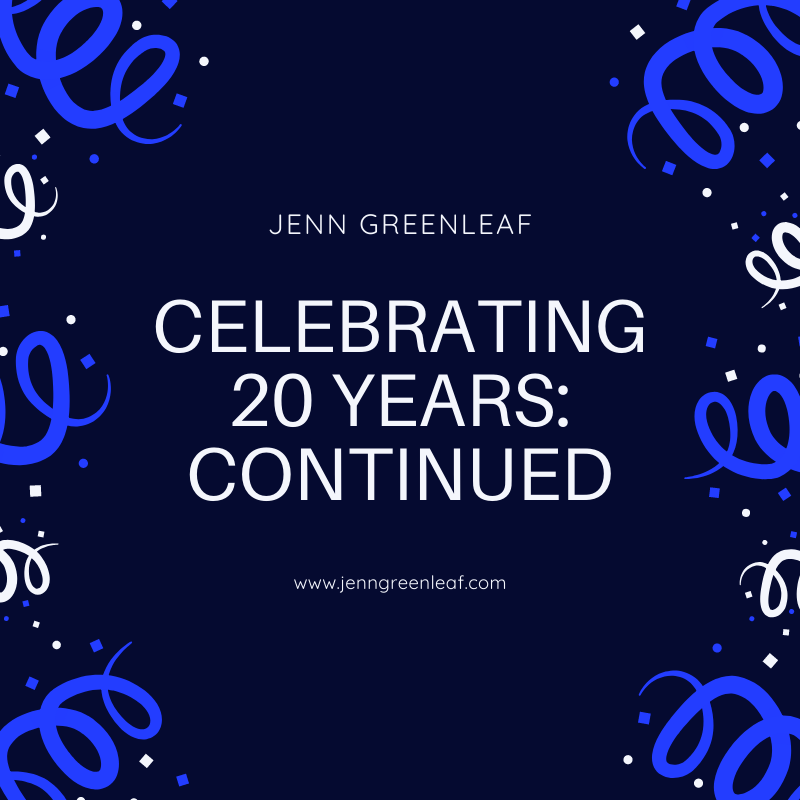 Celebrating 20 Years: Continued