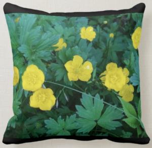 Buttercup Themed Throw Pillow