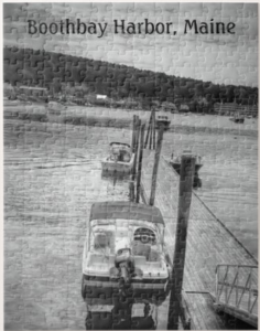 Dockside Boothbay Harbor photo puzzle