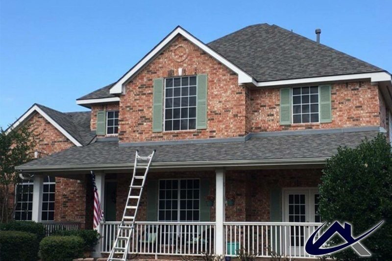 Front Elevation New Roof