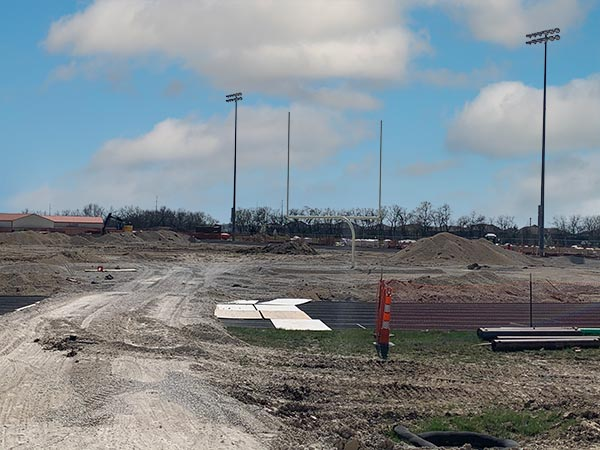 New stadium at Blue Valley West. April 2021.