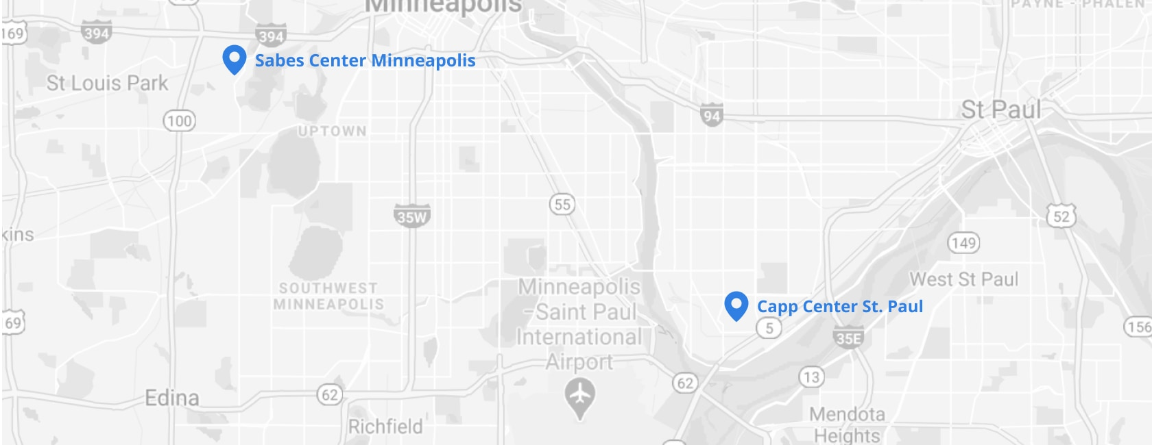 map image of Minnesota JCC locations