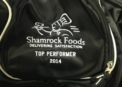 top performer employee of the month embroidery custom backpack