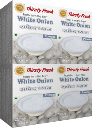 Thirsty Fresh Dehydrated White Onion Powder Wholesale Box Pack Front View