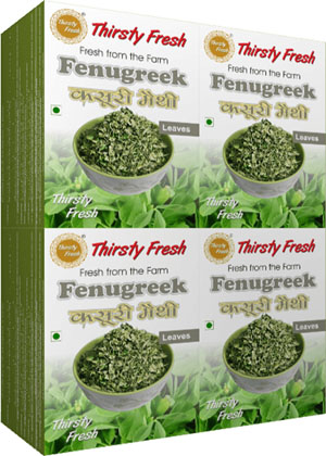 Thirsty Fresh Dehydrated Fenugreek Leaves Wholesale Box Pack Front View