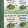 Thirsty Fresh Dehydrated Spinach Leaves Wholesale Box Pack Front View