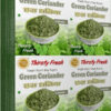 Thirsty Fresh Dehydrated Green Coriander Leaves Wholesale Box Pack Front View
