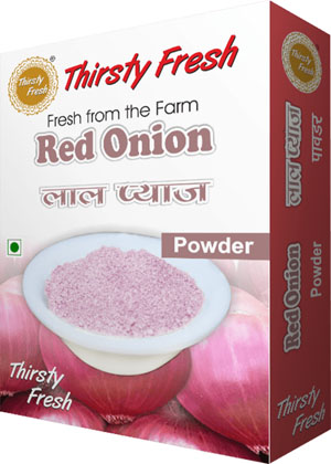 Thirsty Fresh Dehydrated Red Onion Powder Box Front View