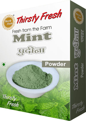 Thirsty Fresh Dehydrated Mint Powder Box Front View