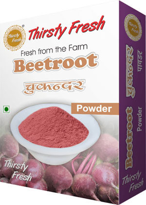 Thirsty Fresh Dehydrated Beetroot Powder Box Front View