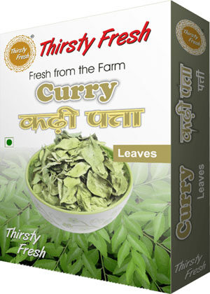 Thirsty Fresh Dehydrated Curry Leaves Box Front View