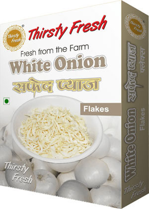 Thirsty Fresh Dehydrated White Onion Flakes Box Front View