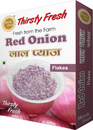 Thirsty Fresh Dehydrated Red Onion Flakes Box Front View