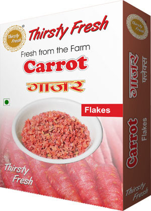 Thirsty Fresh Dehydrated Carrot Flakes Box Front View