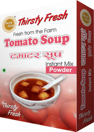Thirsty Fresh Instant Tomato Soup Powder Box Front View