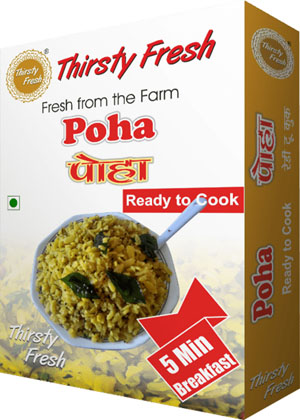 Poha 3 Minute Breakfast Box Front View