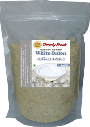 Thirsty Fresh Dehydrated White Onion Powder Zipper Front View