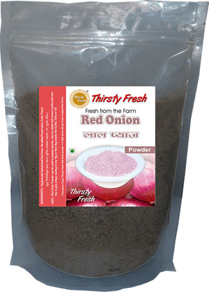 Thirsty Fresh Dehydrated Red Onion Powder Zipper Front View