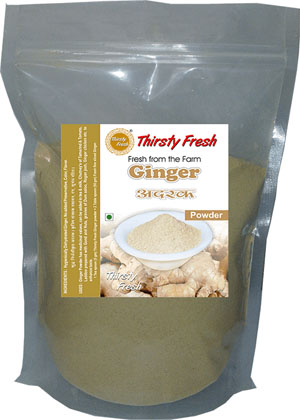 Thirsty Fresh Dehydrated Ginger Powder Zipper Front View