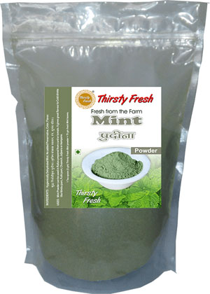Thirsty Fresh Dehydrated Mint Powder Zipper Front View