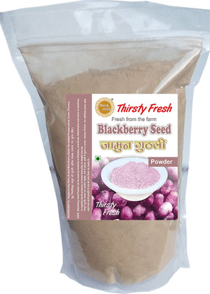 Thirsty Fresh Dehydrated Blackberry Seed Powder Zipper Front View