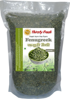 Thirsty Fresh Dehydrated Fenugreek Leaves Zipper Front View