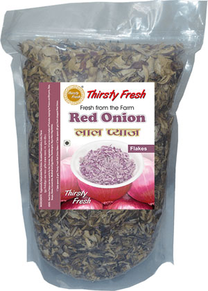 Thirsty Fresh Dehydrated Red Onion Flakes Zipper Front View