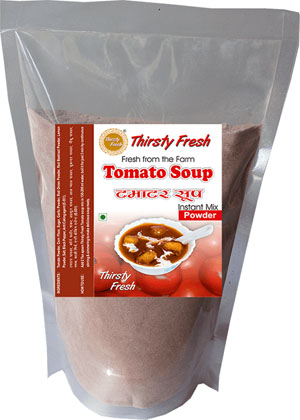 Thirsty Fresh Instant Tomato Soup Powder Zipper Front View
